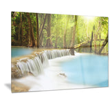 waterfall of huai mae kamin landscape canvas print PT7118