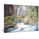 blue klonglan waterfall photography canvas print PT7121