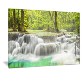 erawan waterfall view photography canvas print PT7125