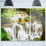 green huymea kamin waterfall photo canvas print PT7126