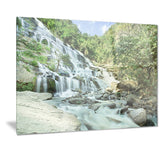 maeyar waterfall in rain landscape photo canvas print PT7130
