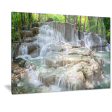 white huay mae kamin waterfall landscape photo canvas print PT7134
