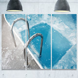 ice swimming blue pool photography canvas print PT7143