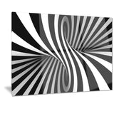 black and white spiral digital canvas art print PT7155