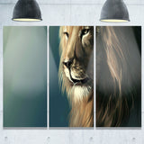 lion with serious look animal art canvas print PT7169