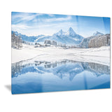 icy winter mountain alps landscape photo canvas print PT7177