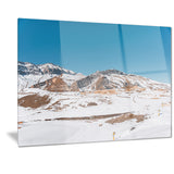 winter mountains in azerbaijan landscape photo canvas print PT7179
