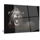 lion displaying fiery face animal digital art canvas print PT7184