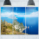 capri island in italy photography canvas art print PT7203