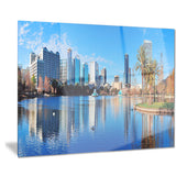 orlando morning cityscape photo canvas art print PT7210