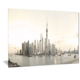 shanghai's modern architecture cityscape photo canvas print PT7219