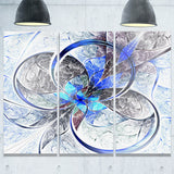symmetrical blue fractal flower digital art canvas print PT7250