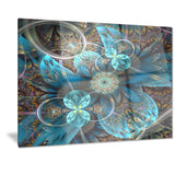 fractal blue flowers digital art floral canvas print PT7288