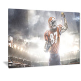 american footballer on stadium sports photo canvas print PT7306