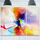 creative flower in multiple colors abstract floral canvas print PT7329