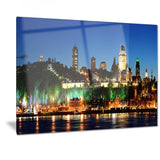 panoramic quebec city at night cityscape photo canvas print PT7339