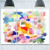 colorful stain design without grid abstract painting canvas print PT7343