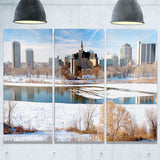 city of saskatoon winter panoramic landscape canvas art print PT7344