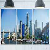 beautiful view of vancouver cityscape photo canvas print PT7358