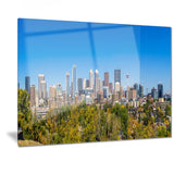 calgary skyline with blue sky photo cityscape canvas print PT7367