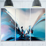blue panoramic abstract design abstract canvas art print PT7489