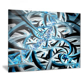 blue spiral fractal design abstract digital art canvas print PT7517