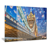 lights on tower bridge cityscape photography canvas print PT7553