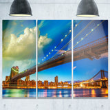 brooklyn bridge with cloud in sky cityscape photo canvas print PT7554