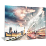 night scene of london city cityscape photo canvas print PT7556