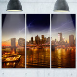 manhattan sunset on east river cityscape photo canvas print PT7558