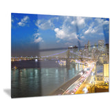 new york city wonderful sunset view cityscape photo canvas print PT7566