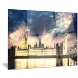 parliament at river thames cityscape photography canvas print PT7567