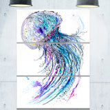 jelly fish watercolor animal painting canvas print PT7621