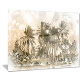 dark palms at sunset landscape canvas art print PT7640