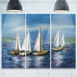 yachts by obsky sea seascape photo canvas print PT7668