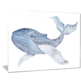 large watercolor whale animal painting canvas print PT7671