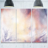 blurry watercolor with star abstract painting canvas print PT7676