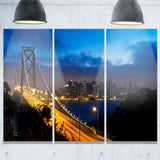bay bridge san francisco cityscape photo canvas print PT7681