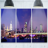 london night panorama cityscape photo canvas print PT7689