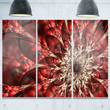 red symmetrical flowers pattern floral canvas art print PT7693
