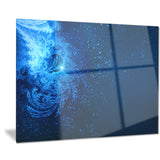 blue falling snow abstract digital art canvas print PT7718