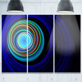 endless tunnel blue ripples abstract digital art canvas print PT7725