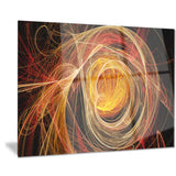 orange ball of yarn abstract digital art canvas print PT7734