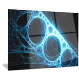blue metal construction in black abstract digital art canvas print PT7744