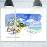 dominican republic vector illustration cityscape painting canvas print PT7750