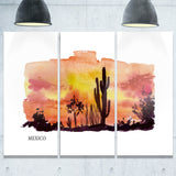 mexico vector illustration cityscape painting canvas print PT7751