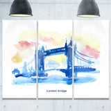 london hand drawn illustration cityscape painting canvas print PT7761