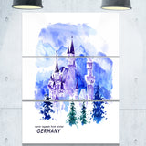 germany watercolor landscape cityscape painting canvas print PT7763