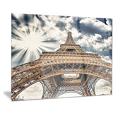 fisheye view of eiffel tower cityscape digital art canvas print PT7768