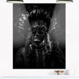 american indian tribal chief portrait digital art canvas print PT7813